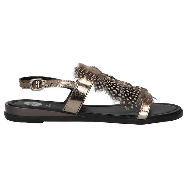 Sandalia piel mujer - gris