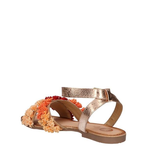 Sandalias planas mujer - rojo