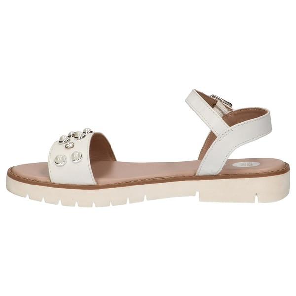Sandalia piel infantil - blanco
