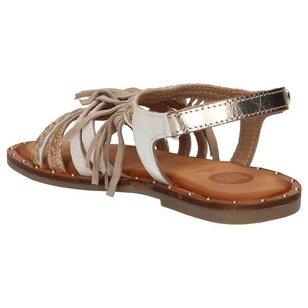 Sandalia piel niña - blanco
