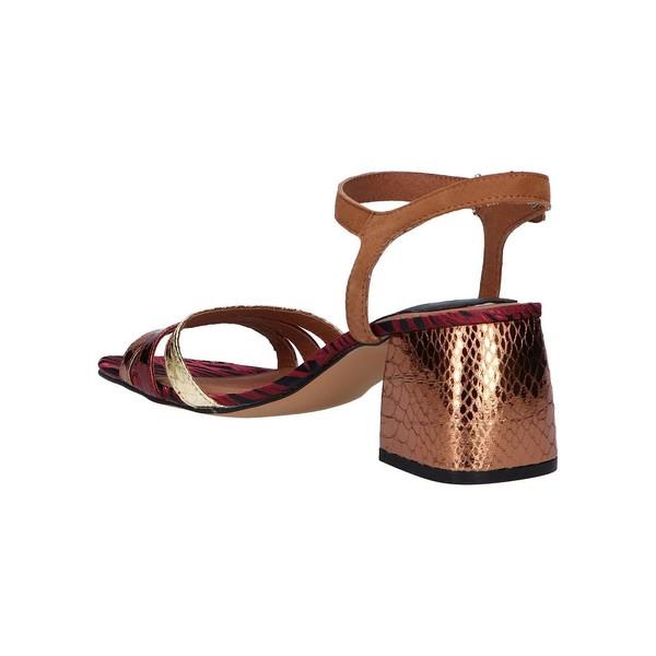 Sandalia tacón mujer - marrón