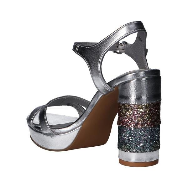 Sandalia tacón mujer - plateado