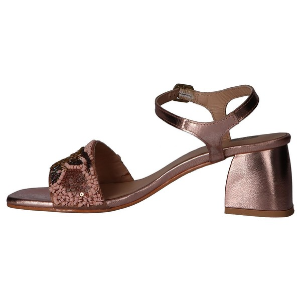 5cm Sandalia tacón piel mujer - rosa