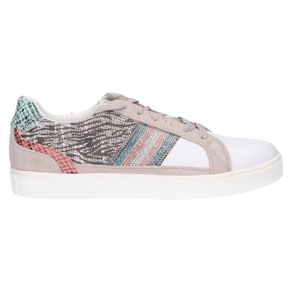 Sneaker piel/textil mujer - gris
