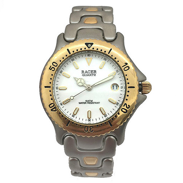 Reloj analógico hombre - plateado