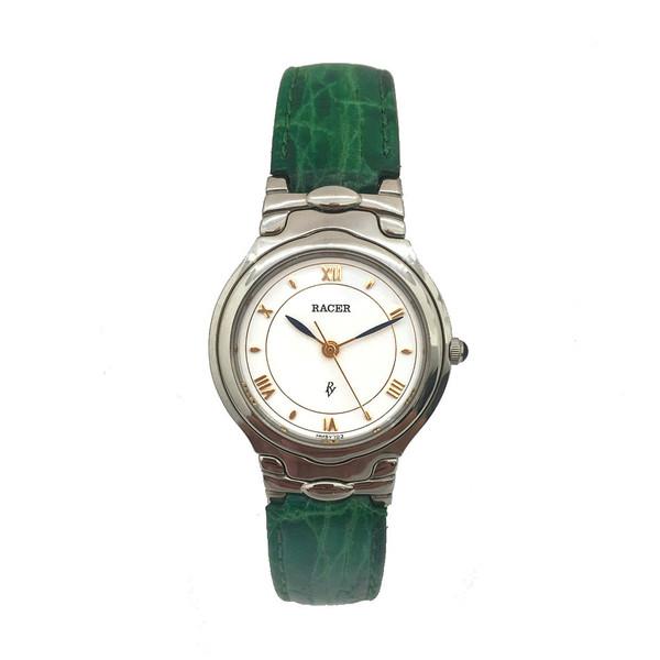 Reloj analógico mujer piel - verde