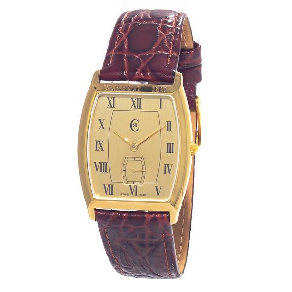 Reloj analógico mujer piel - marrón