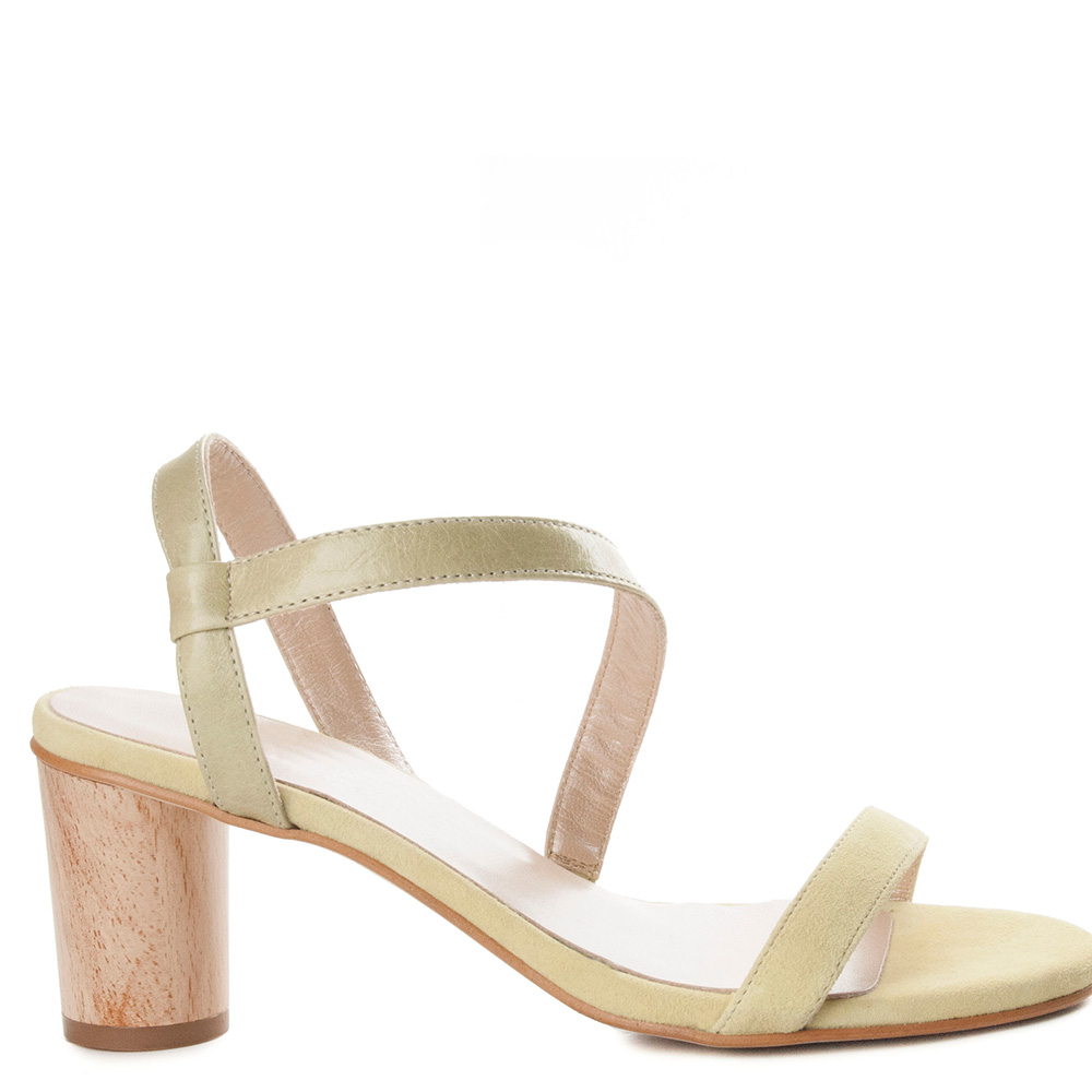 6cm Verde Sandalia De Mujer Lecoraline Tacón uPTkXZwOi