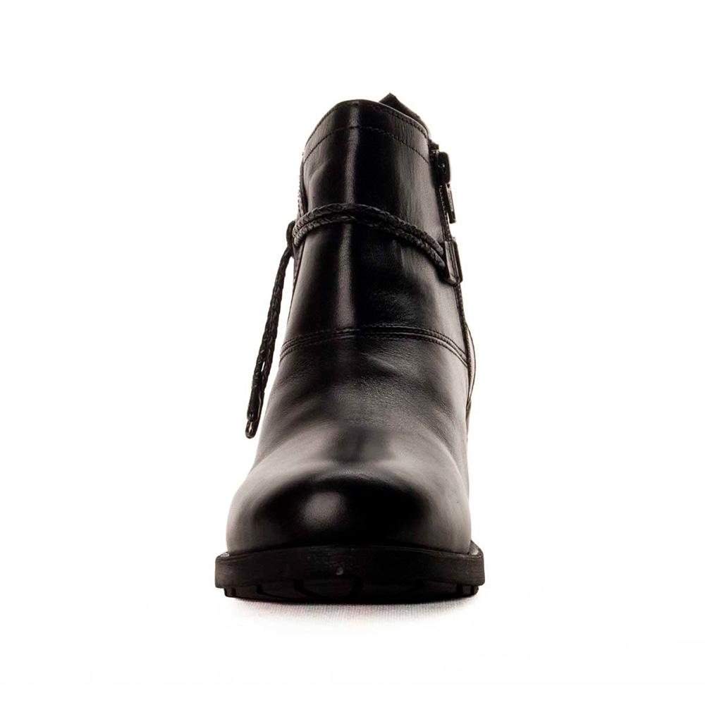 5,5cm Botín tacón piel mujer - negro
