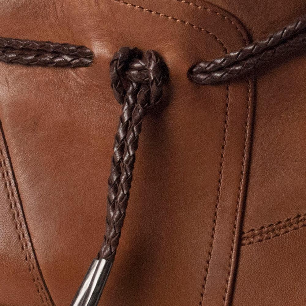 5,5cm Botín tacón piel mujer - marrón