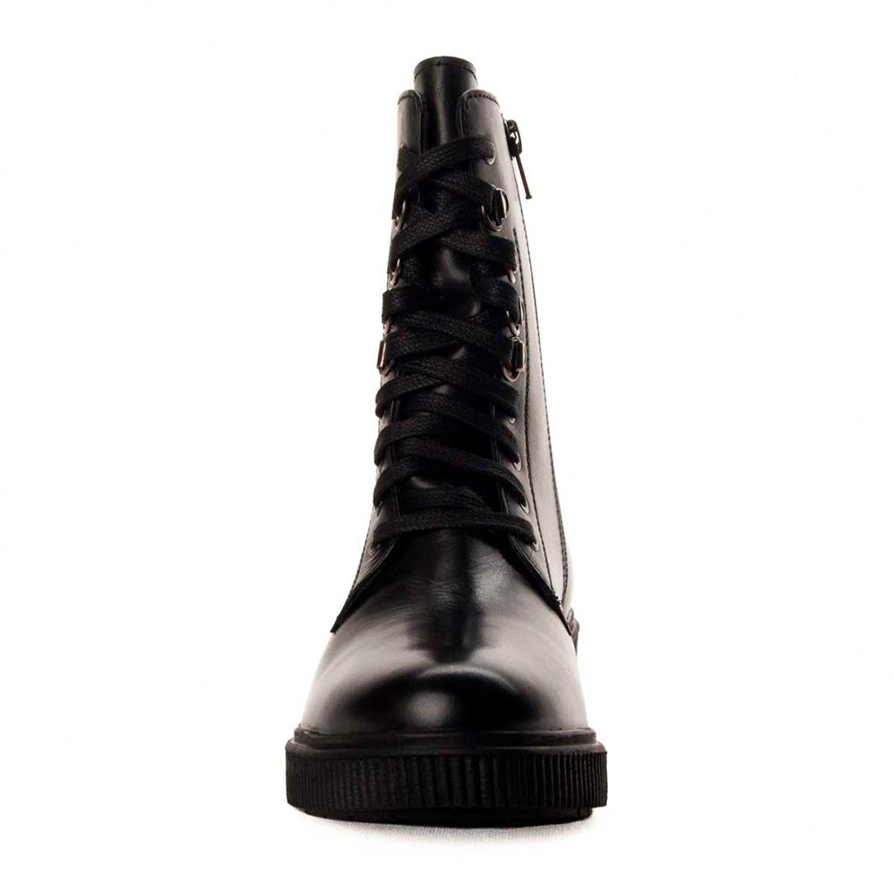 4cm Bota tacón piel mujer - negro