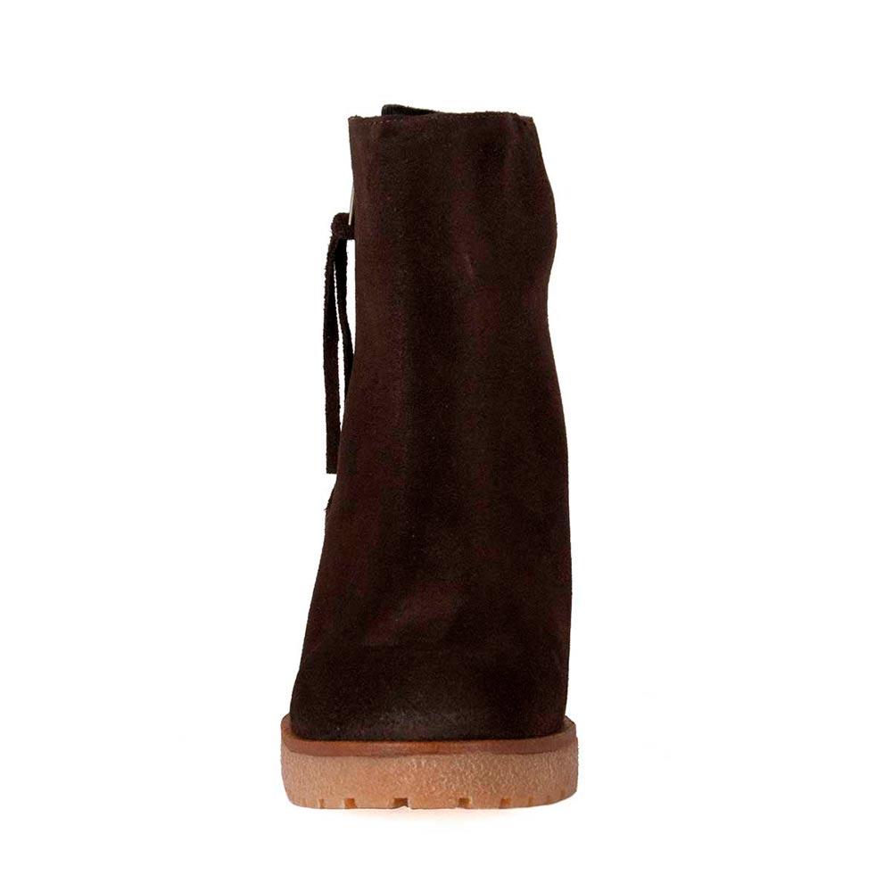9cm Botín tacón piel mujer - marrón