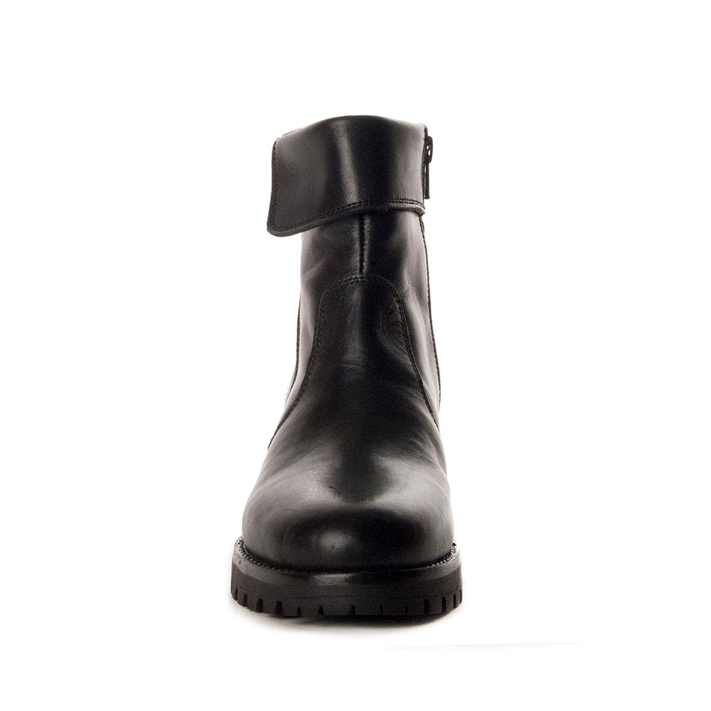 4,5cm Botín tacón piel mujer - negro