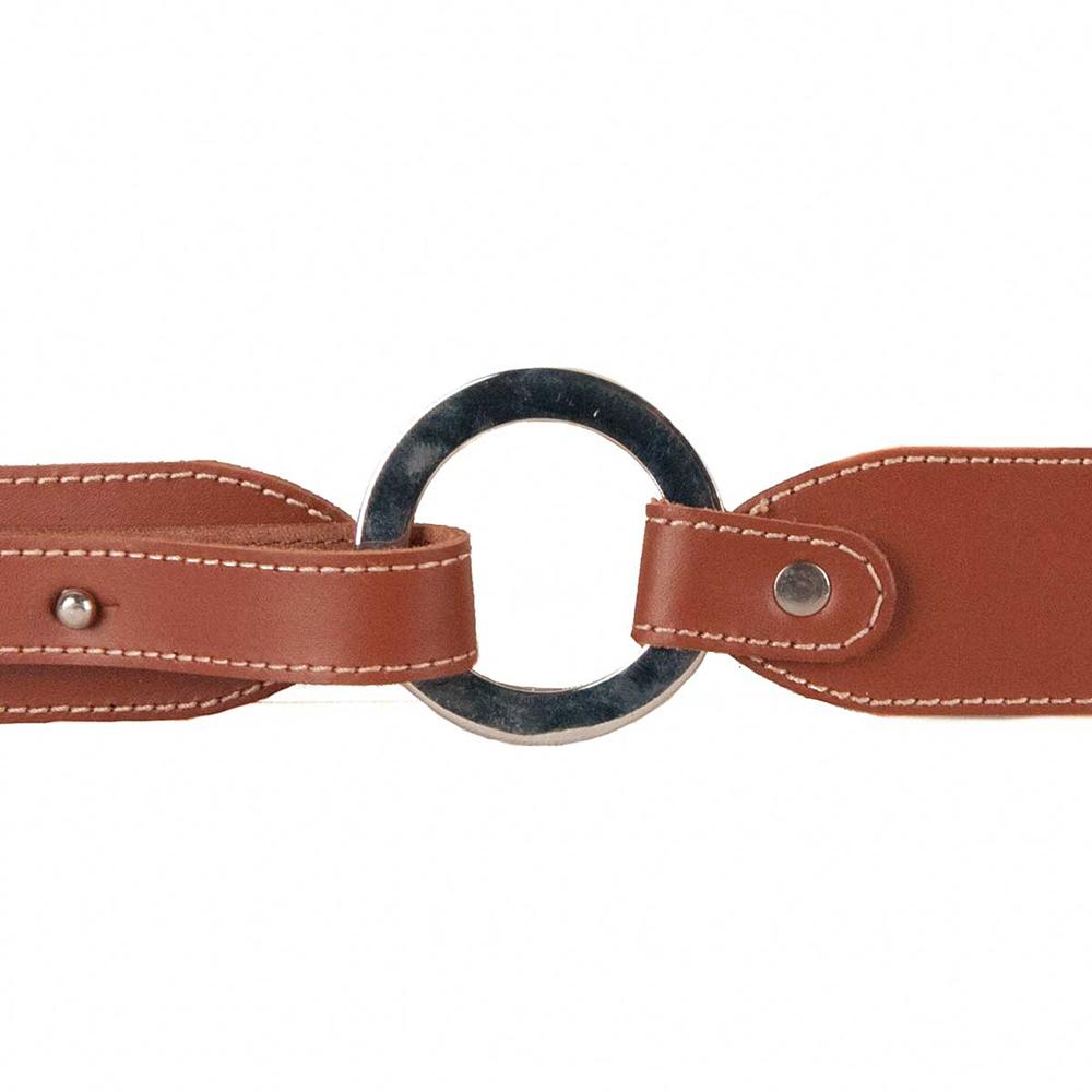 Cinturón piel mujer - marrón