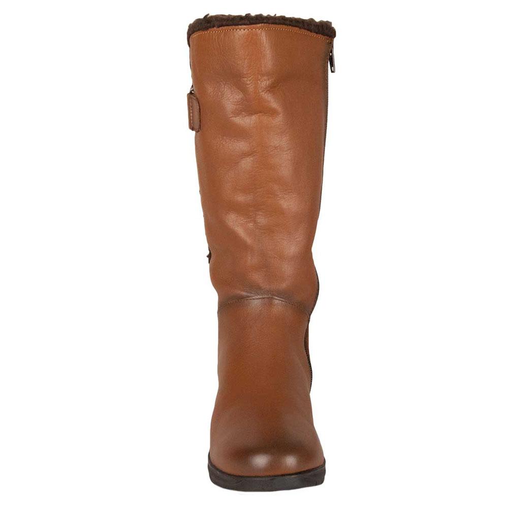 Bota piel mujer - marrón