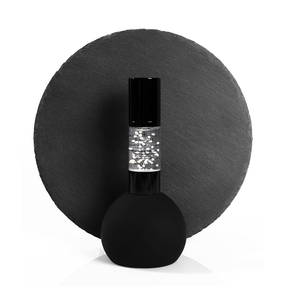 sérum facial iluminador peonías y caviar blanco