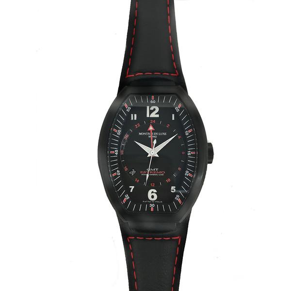 Reloj analógico piel hombre - negro