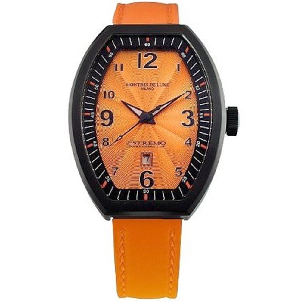 Reloj analógico piel mujer - naranja