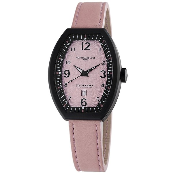 Reloj analógico mujer piel - rosa