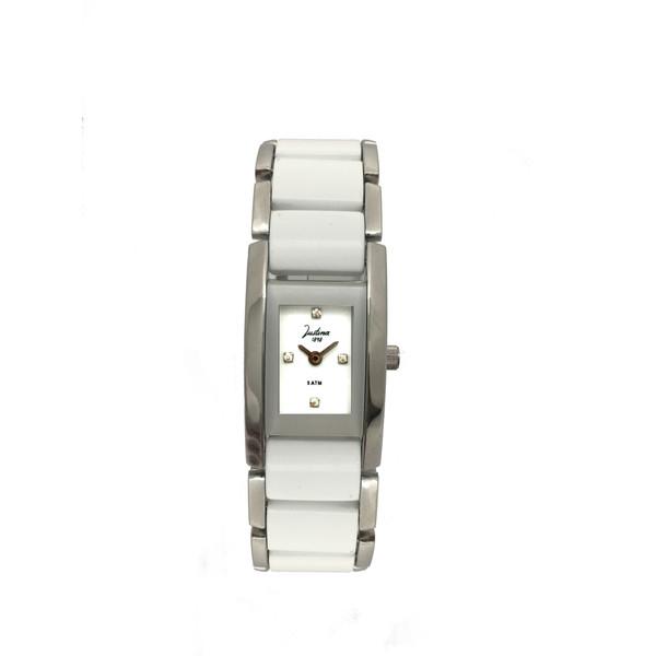 Reloj mujer analógico cerámica - blanco