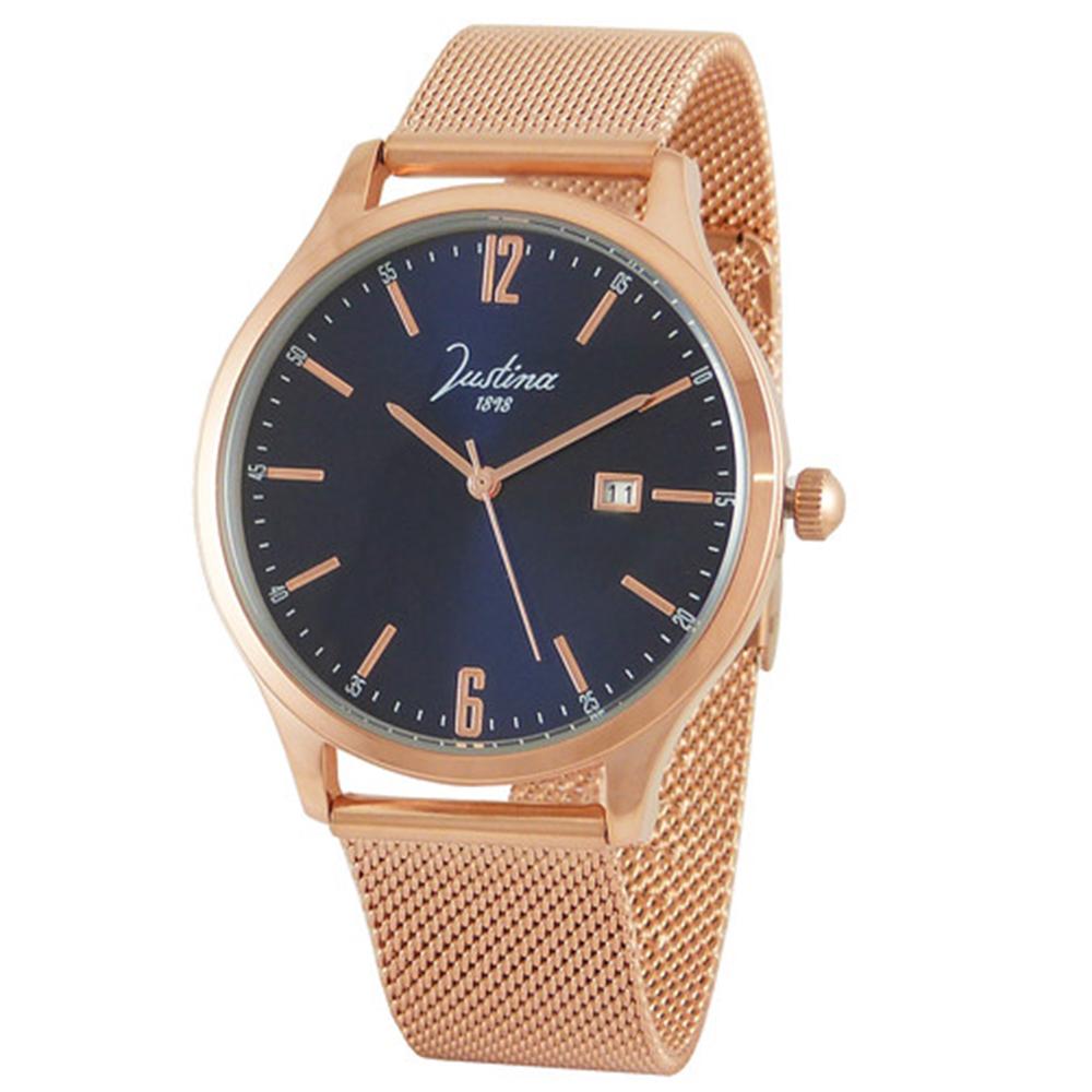 Reloj analógico acero hombre - rosado