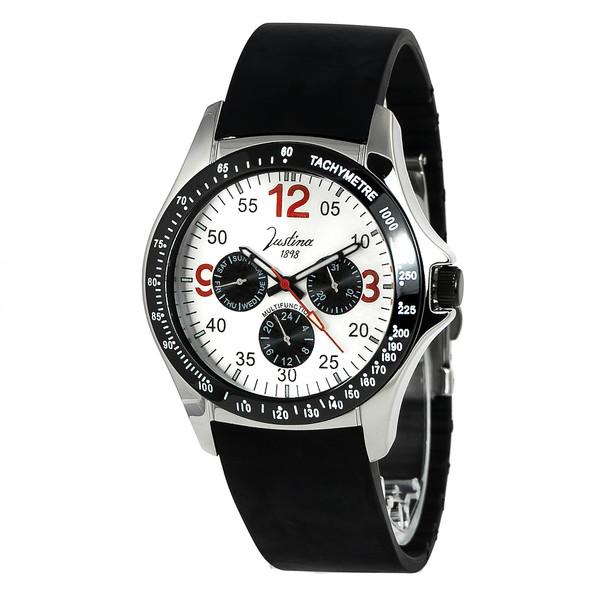 Reloj analógico hombre caucho - negro