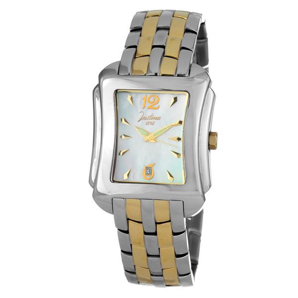 Reloj analógico acero unisex - plateado/dorado