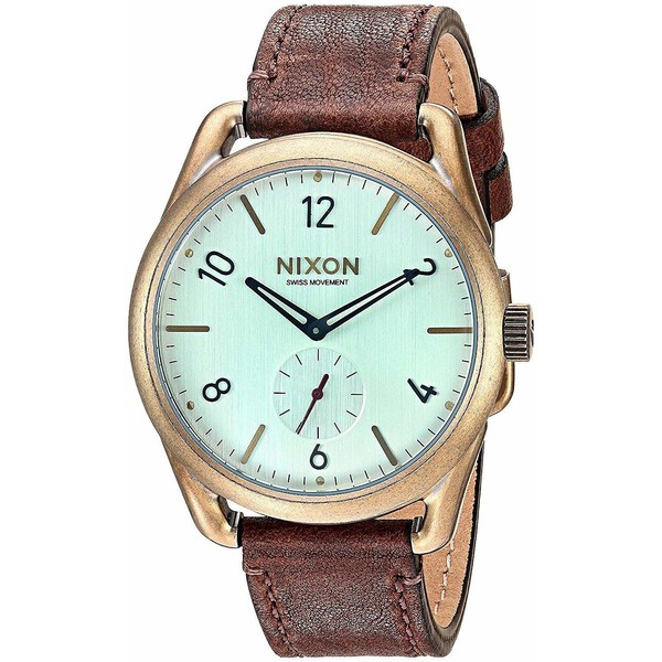Reloj analógico unisex piel - marrón