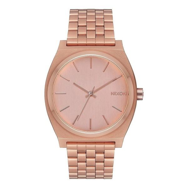 Reloj analógico mujer acero - rosado
