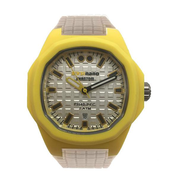 Reloj analógico caucho mujer - amarillo