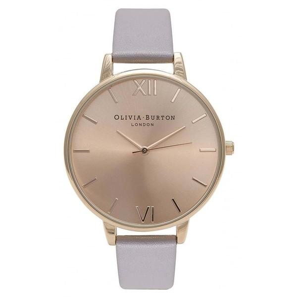 Reloj analógico mujer piel - rosado
