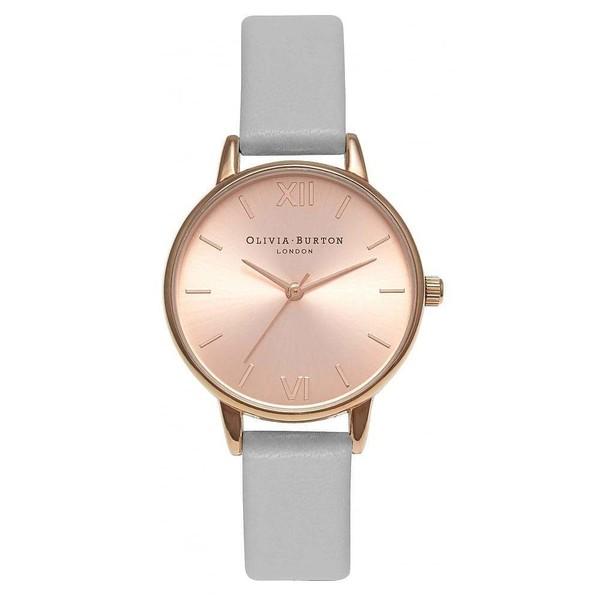 Reloj analógico piel mujer - gris