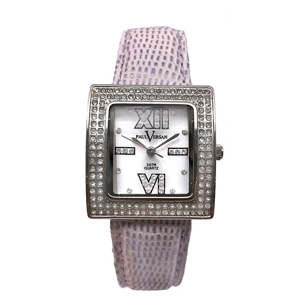 Reloj analógico mujer piel - violeta