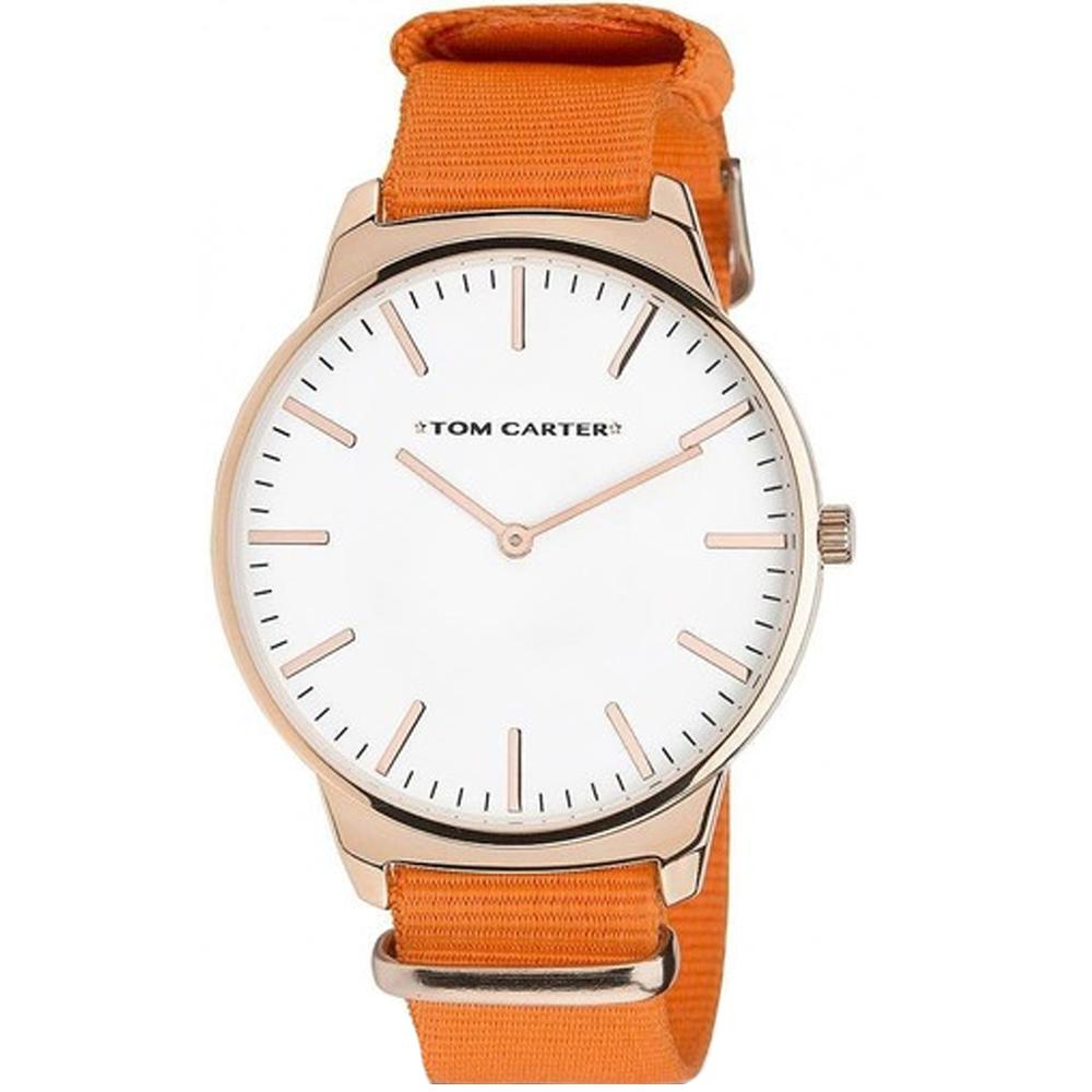Reloj analógico hombre - naranja