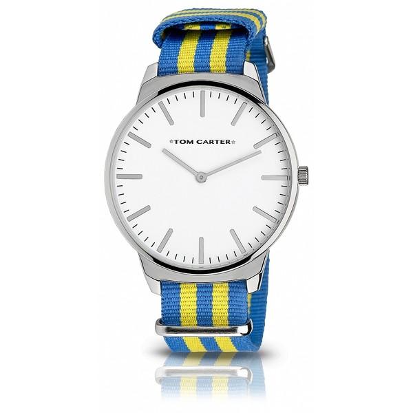 Reloj analógico hombre nylon - azul