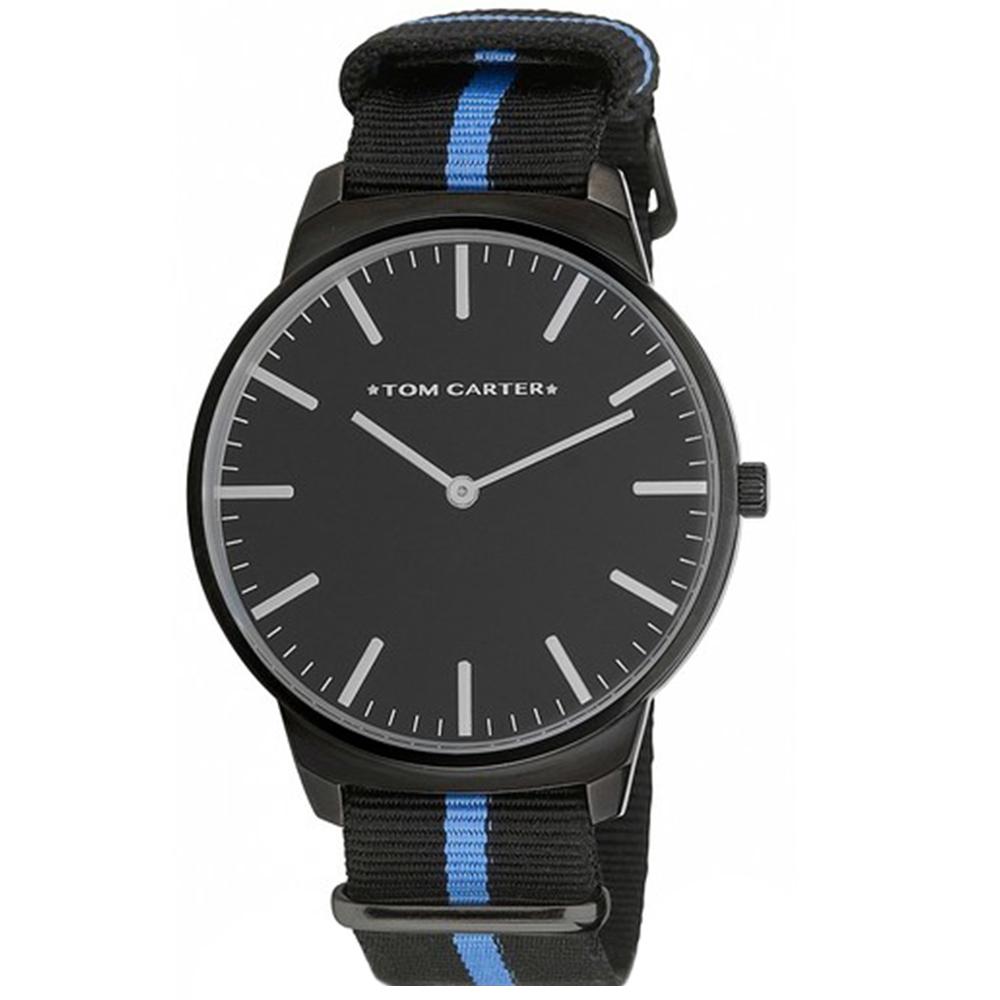 Reloj analógico hombre nylon - negro