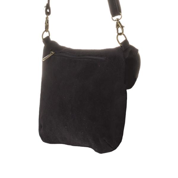 Bolso bandolera Cenerente piel mujer - negro