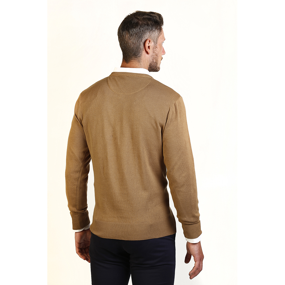 PACK 2 Jersey c/pico hombre - marino/camel