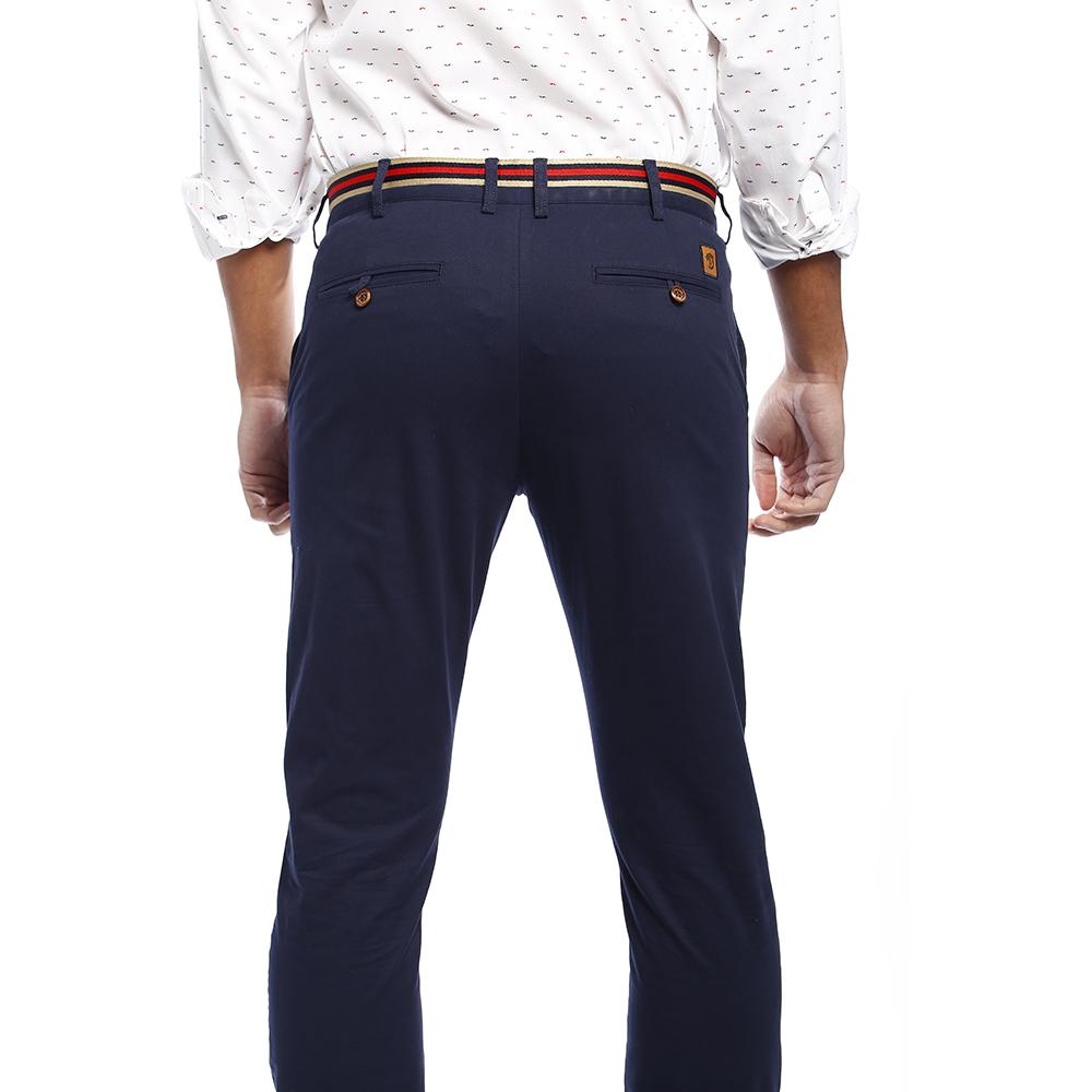 Pack 2 Pantalones chinos hombre - azul marino/beige