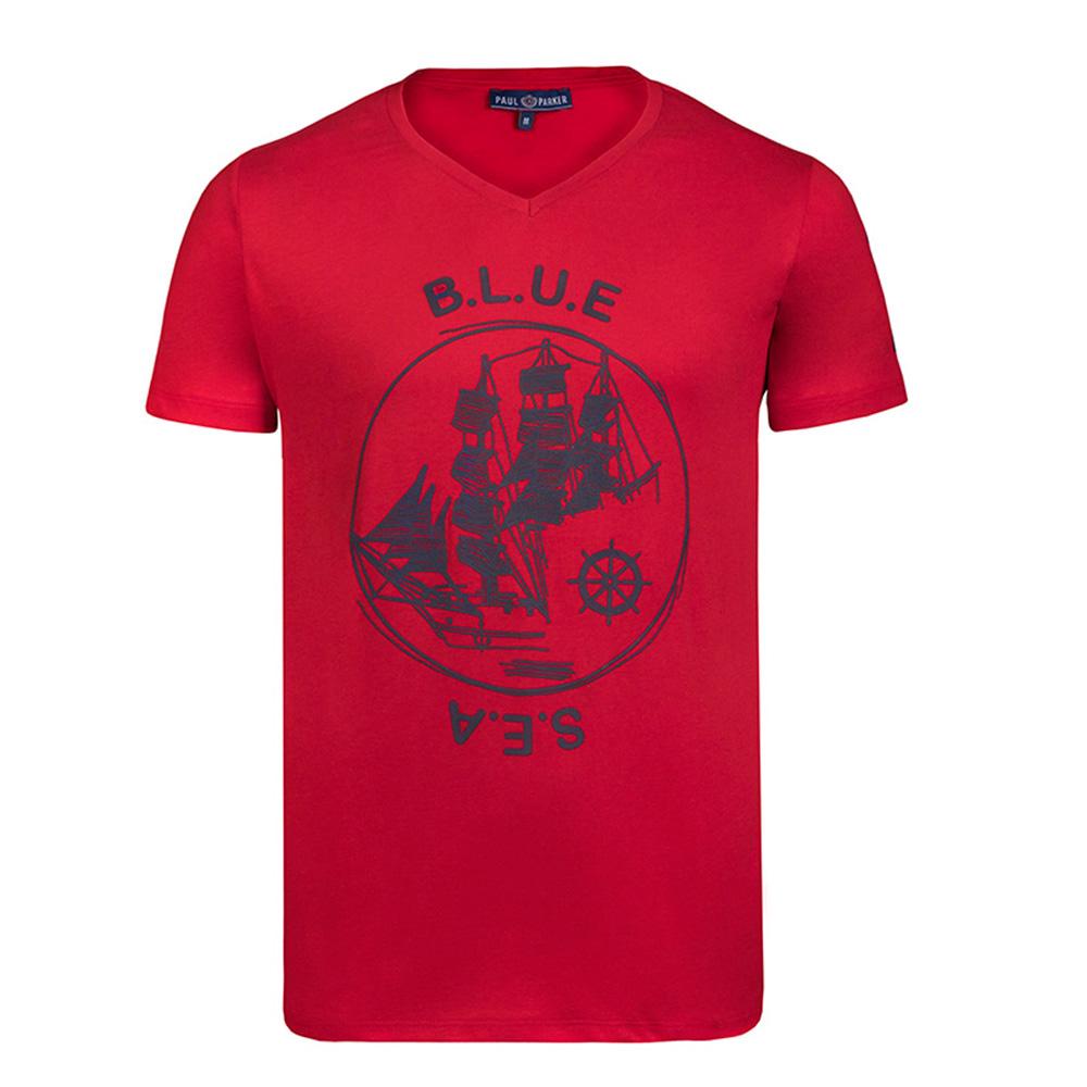 Camiseta hombre - rojo