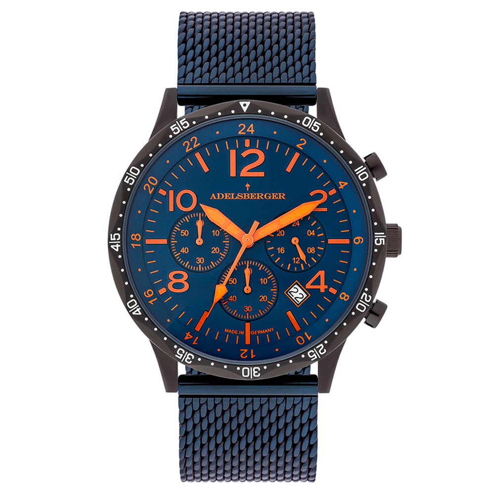 Reloj analógico acero hombre - marino