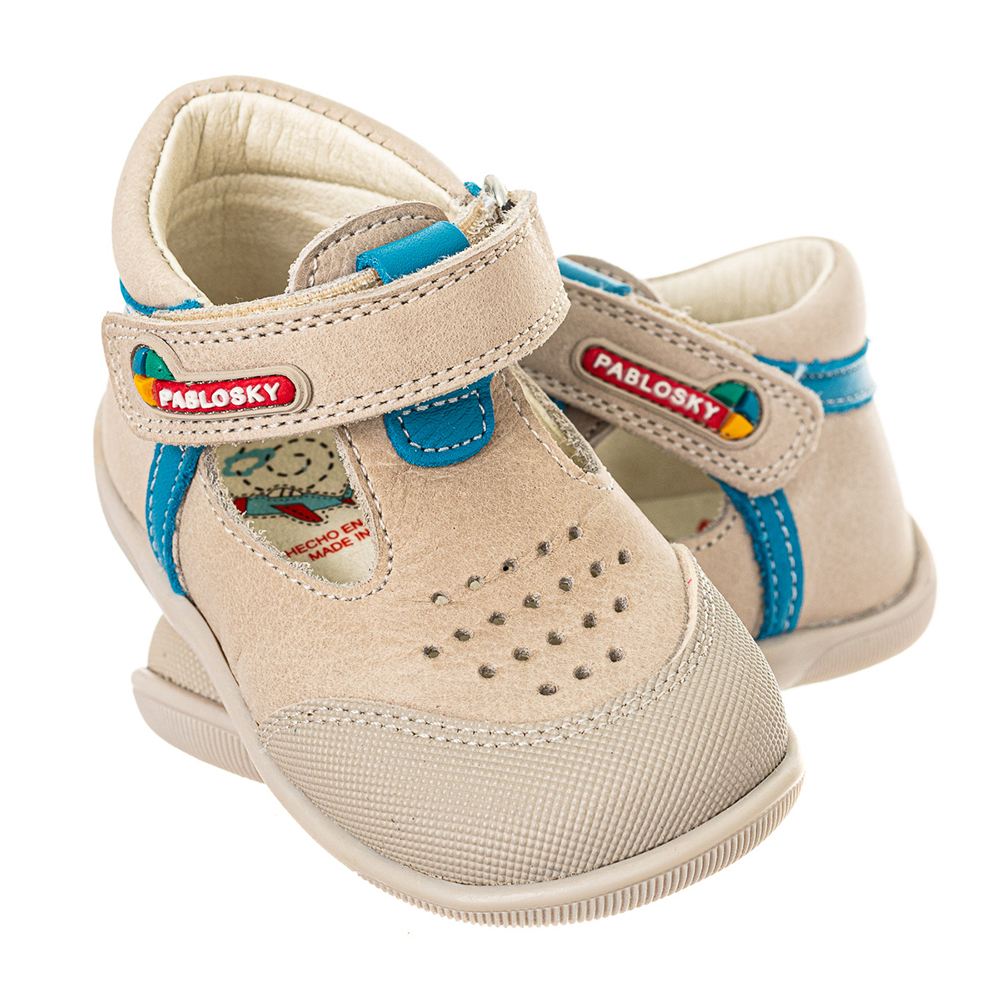 Zapato piel bebé - gris