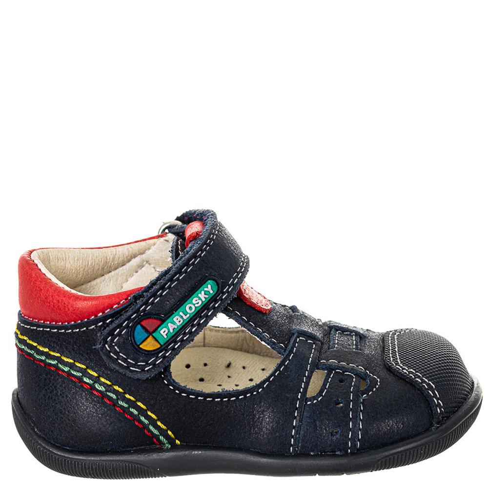 Zapato piel bebé - azul marino