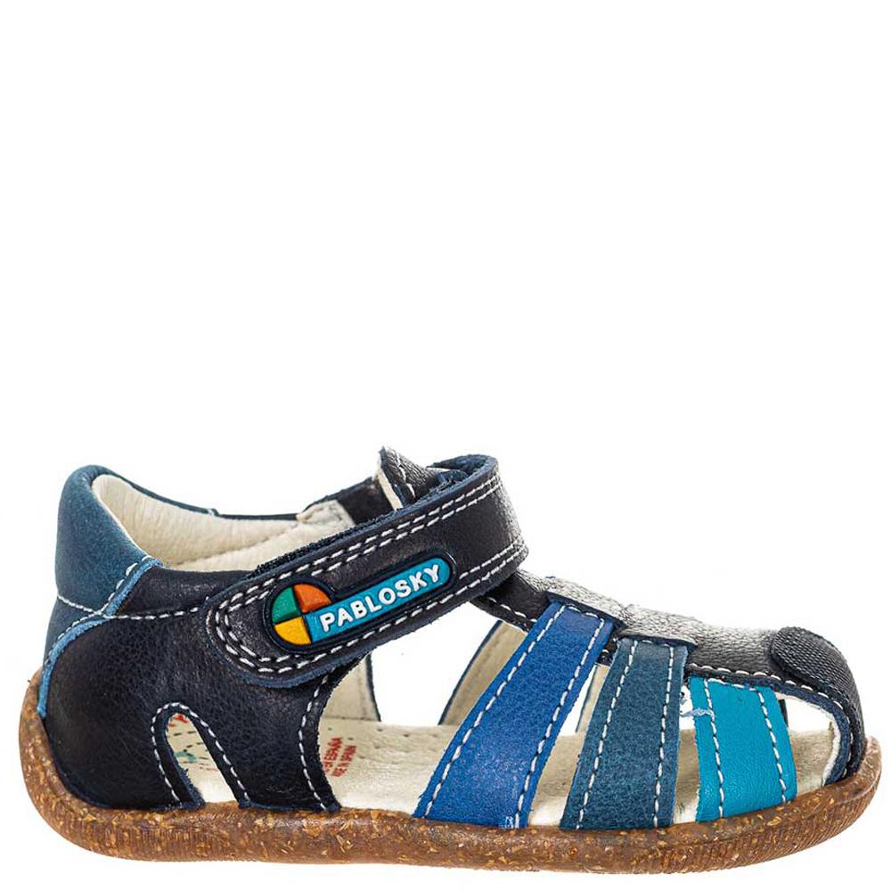 Sandalia piel bebé - azul
