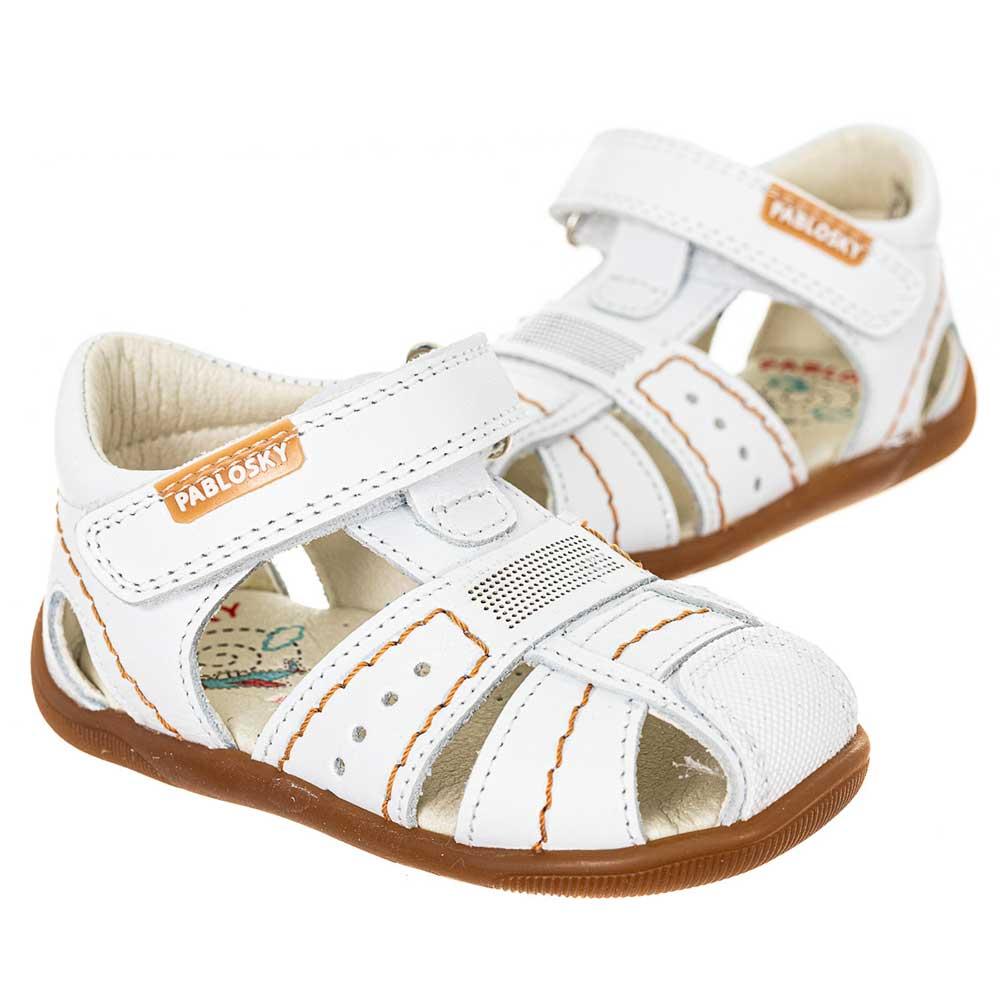 Sandalia piel bebé - blanco