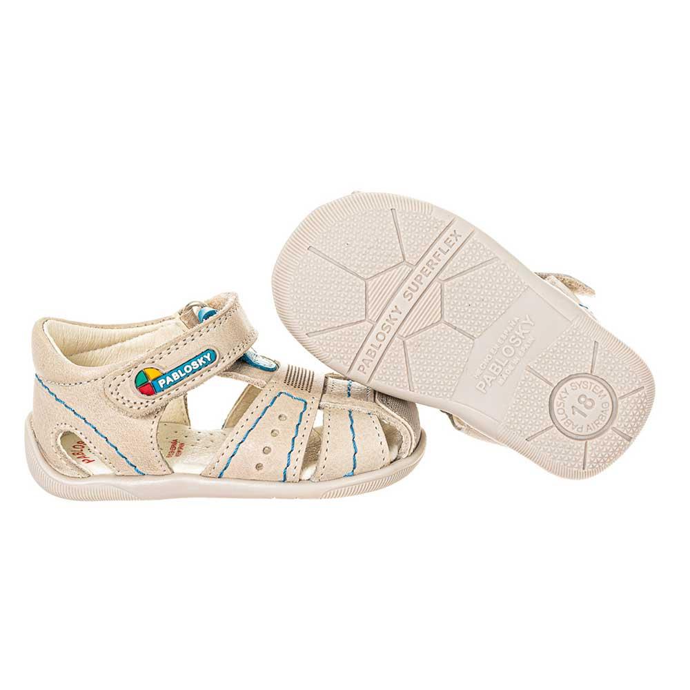 Sandalia piel bebé - gris