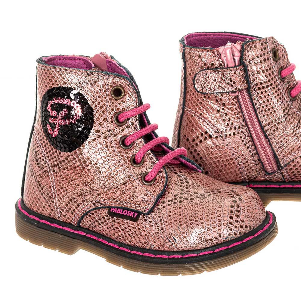 Bota piel bebé - rosa