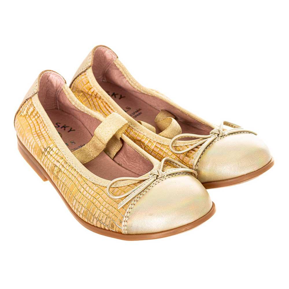 Bailarina piel infantil - dorado