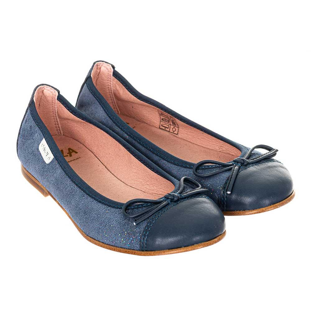 Bailarina piel junior - azul