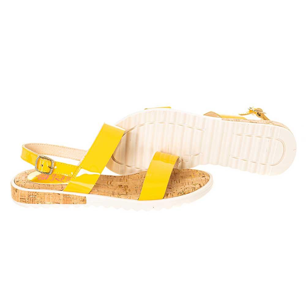 Sandalia piel junior - amarillo